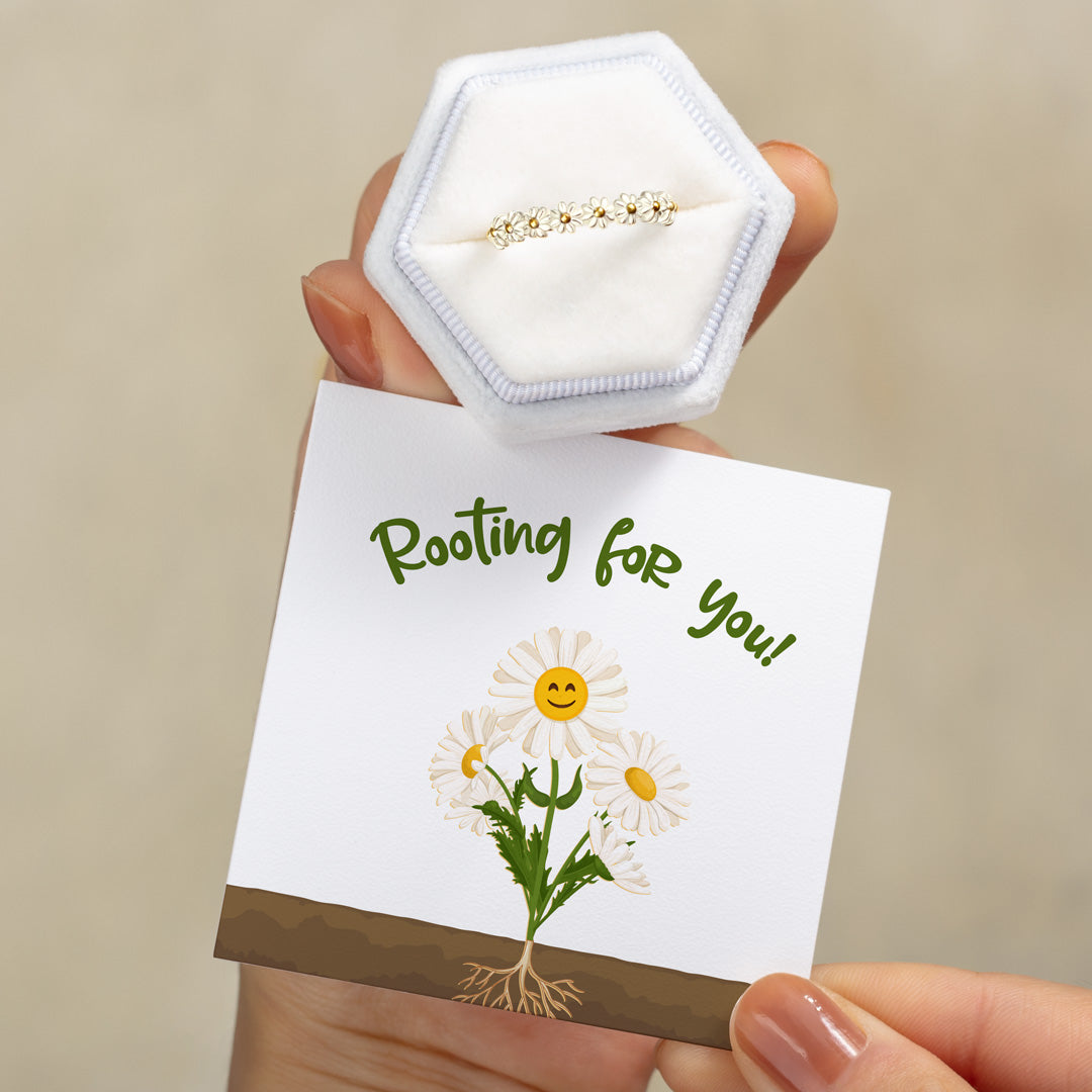 S925 Daisy Ring - I'm Rooting For You