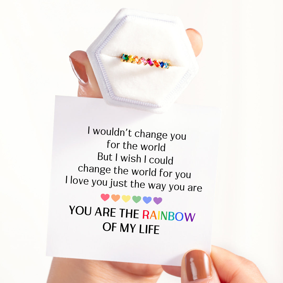 You Are The Rainbow of My Life Ring Band