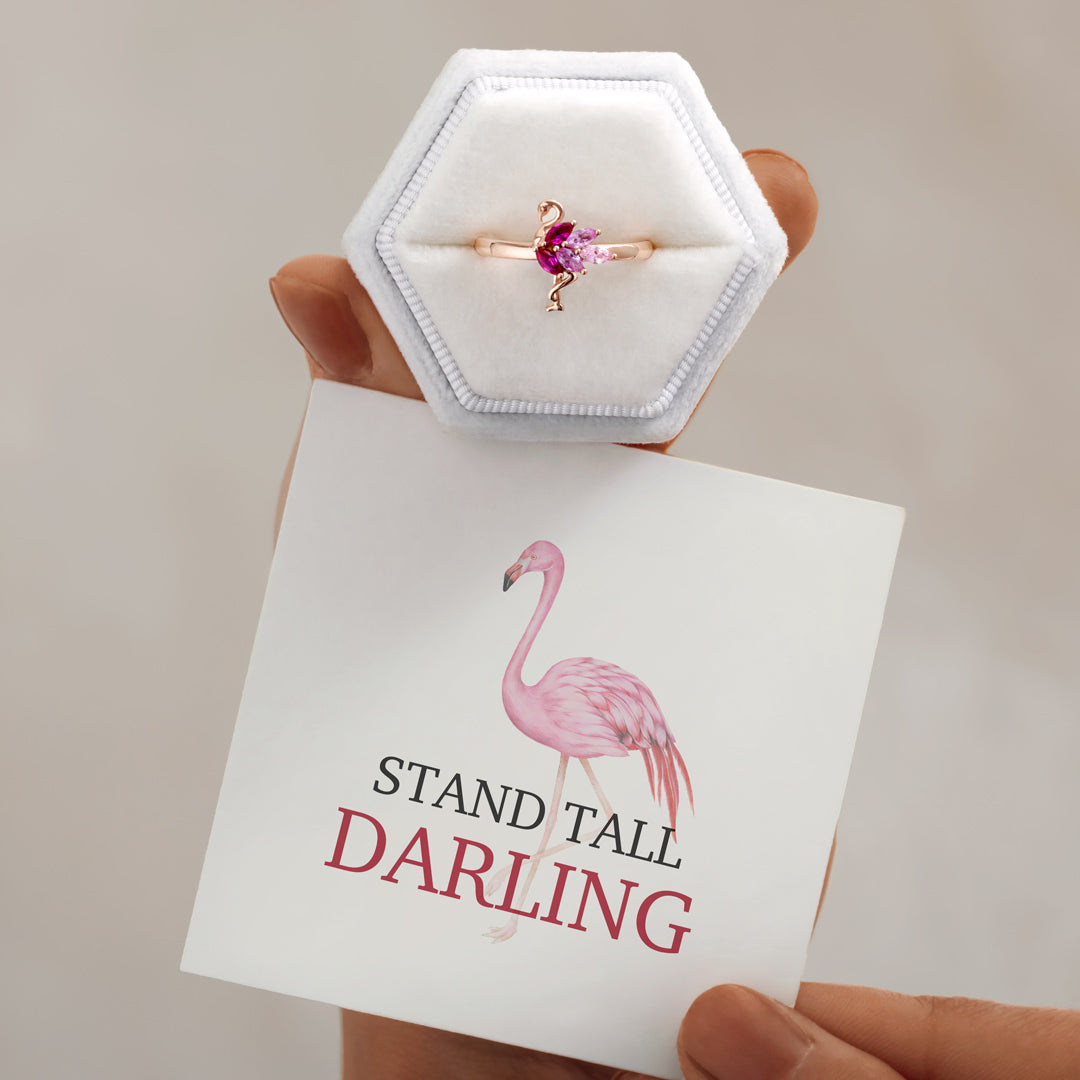 Flamingo Ring-Stand Tall Darling