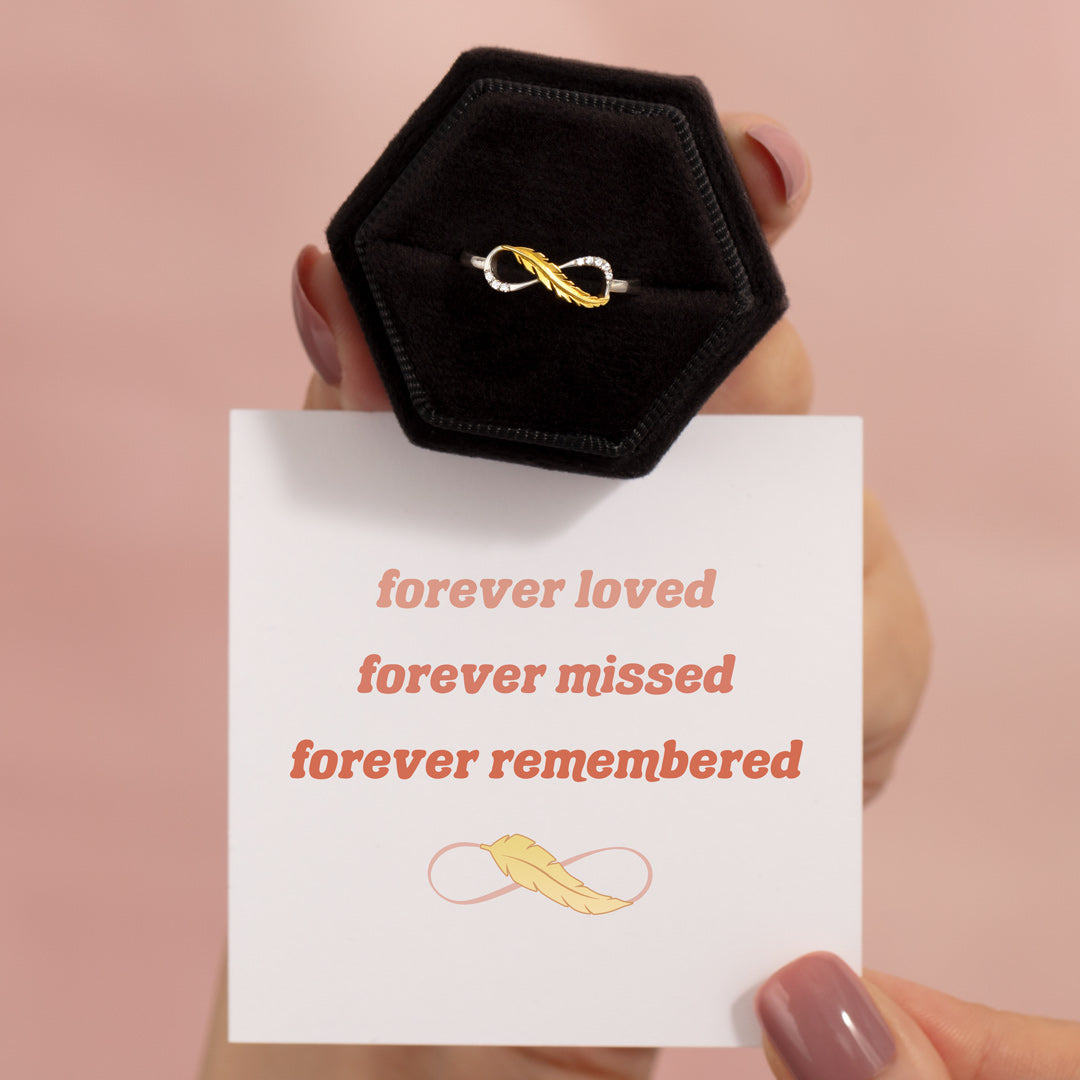 Feather Infinity Ring - Forever Loved