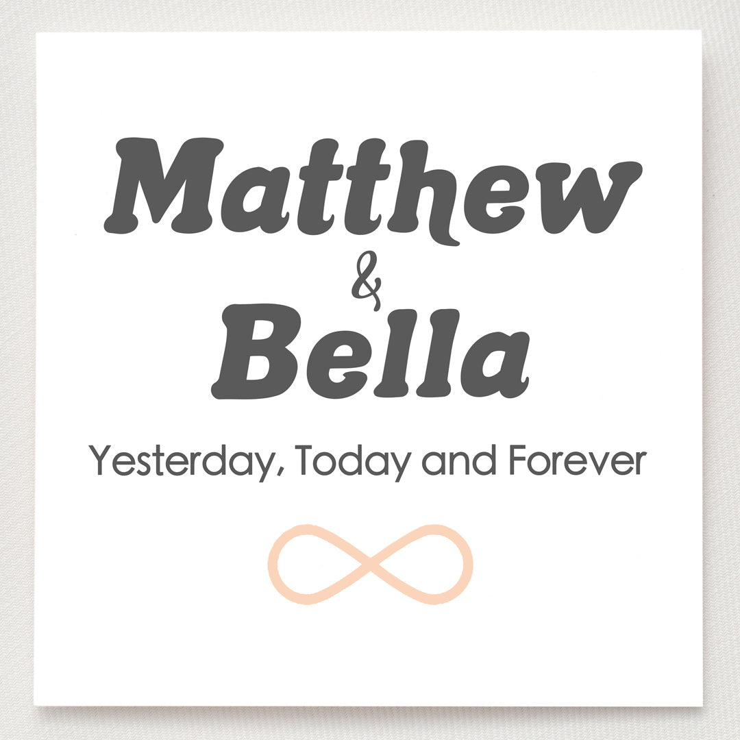 Personalized Infinity Ring - Yesterday Today & Forever