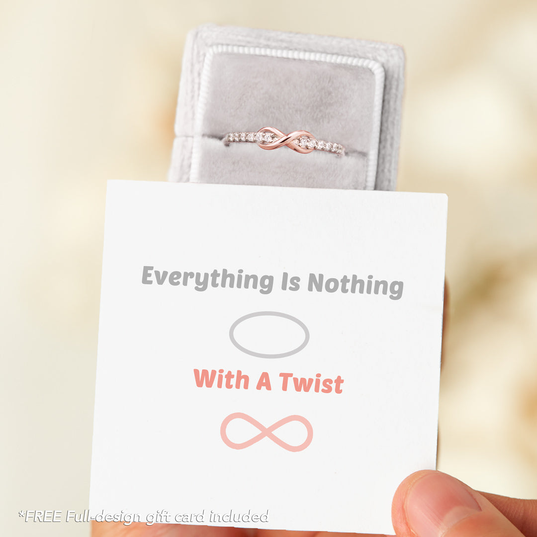Band Ring-Everything Is Nothing With A Twist Infinity