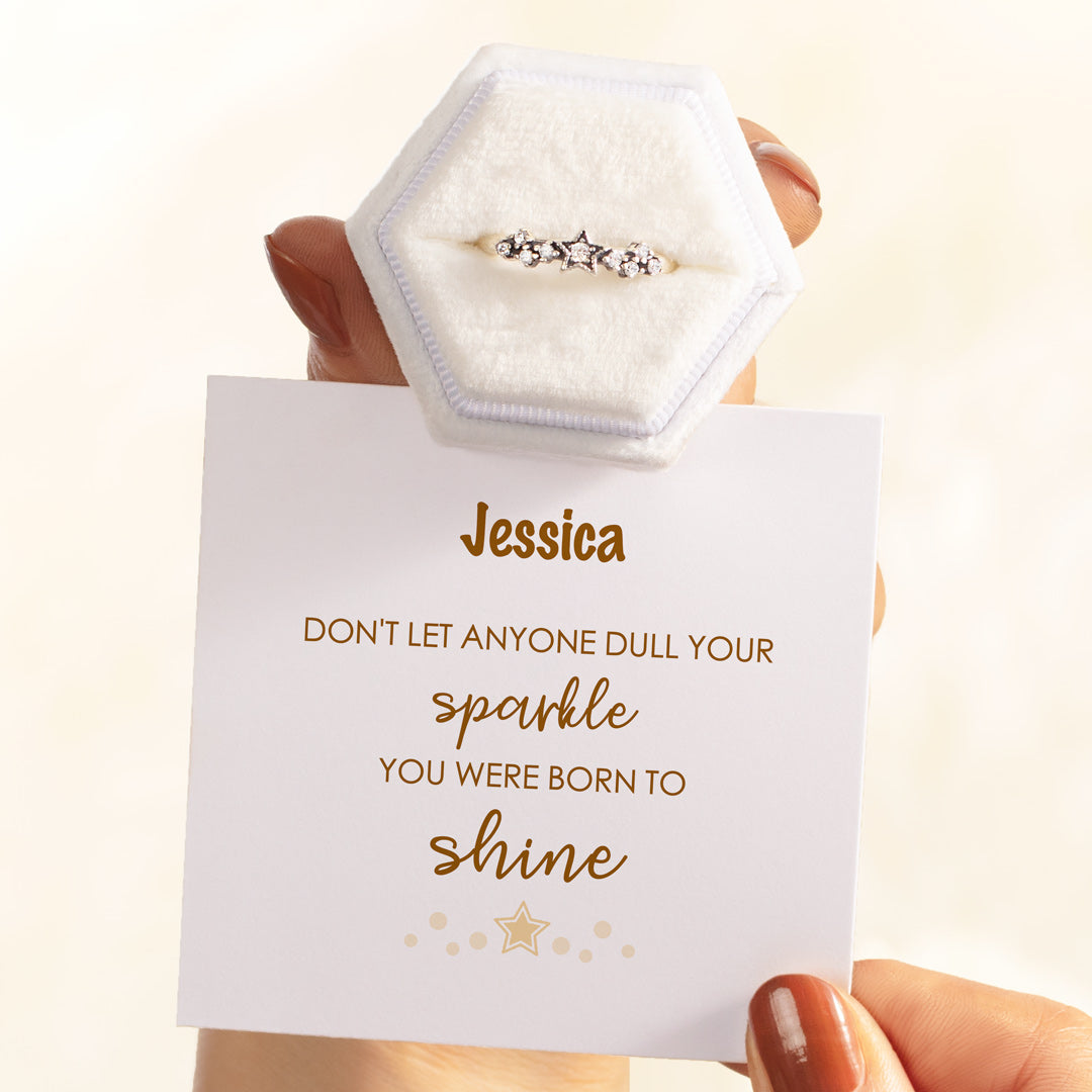 Personalized Stars Ring - You Were Born To Shine