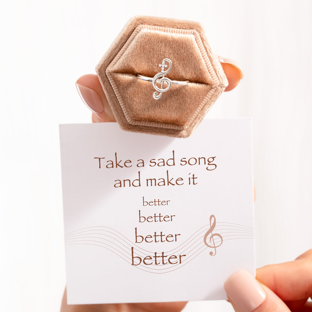 Clef Ring-Take A Sad Song and Make It Better