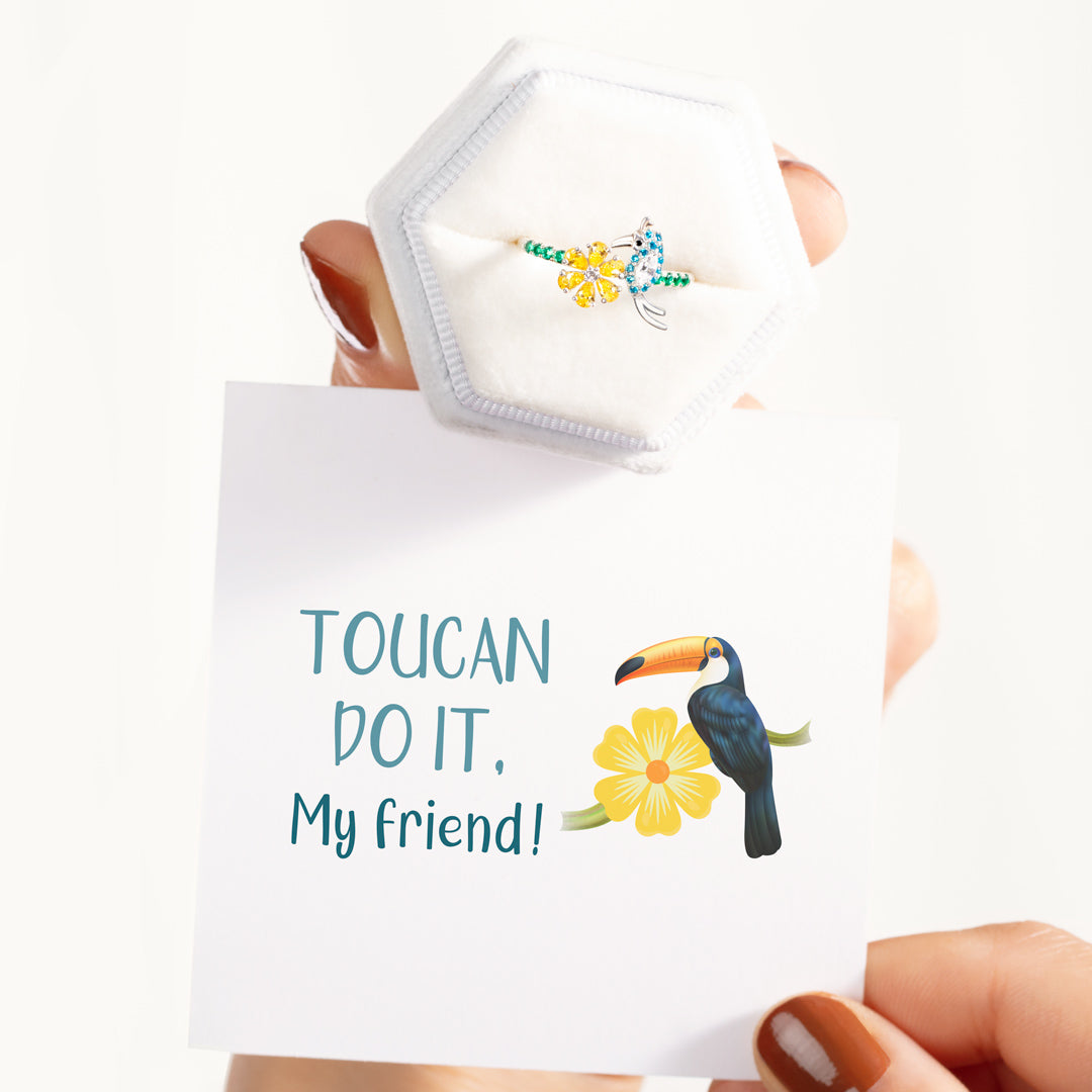 Bird And Flower Ring-Toucan Do It