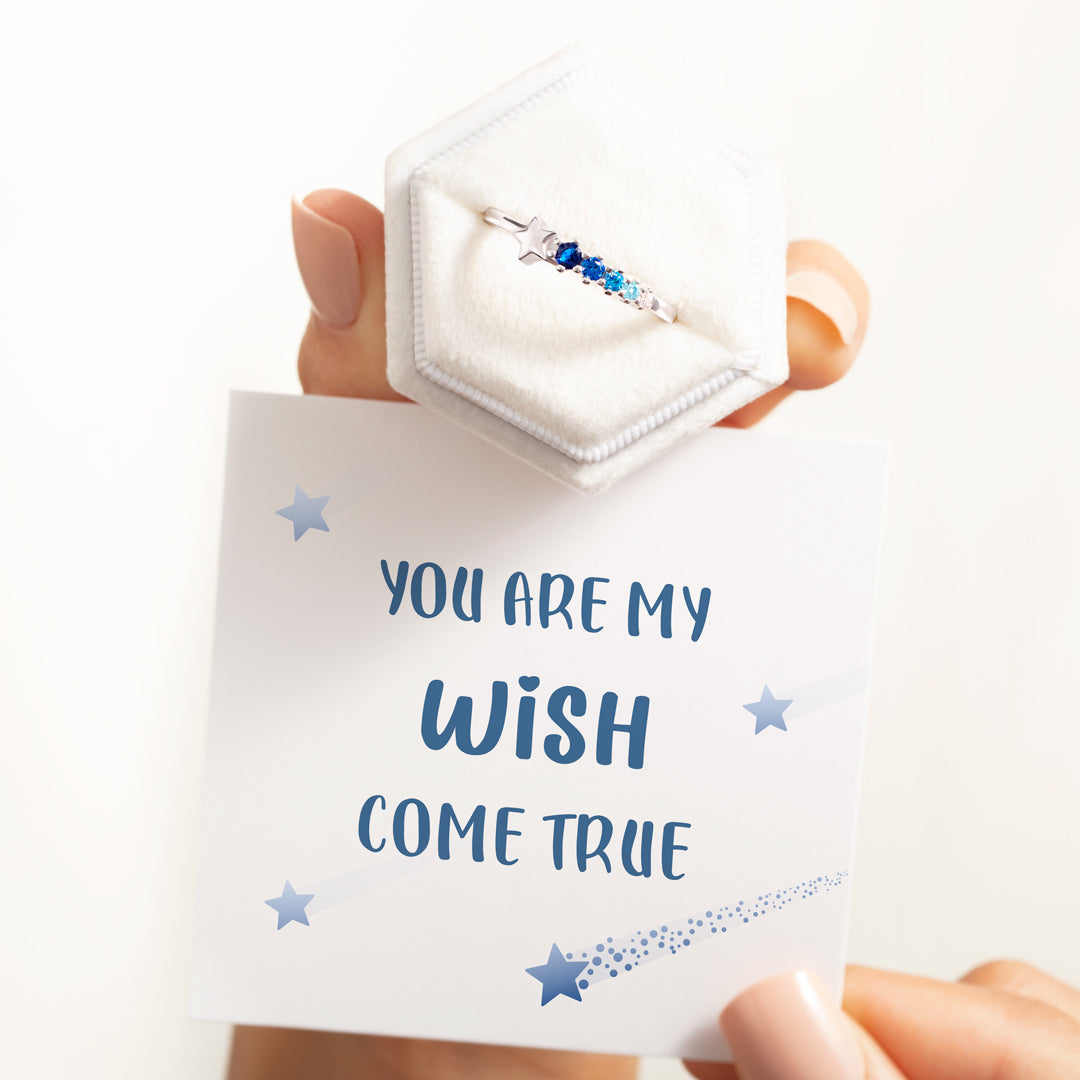 Shooting Star Ring - You're My Wish Come True