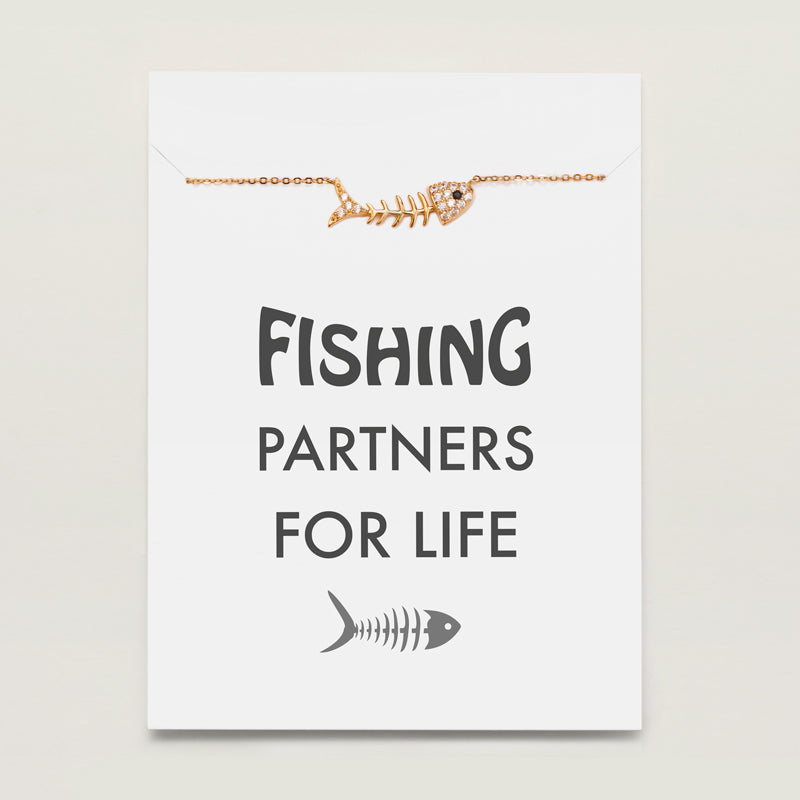 Fishbone Necklace - Fishing Partners For Life