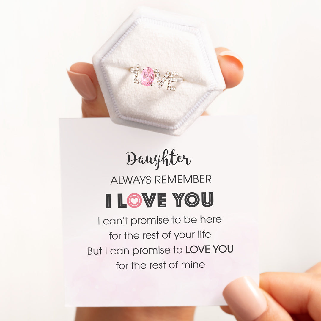 Daughter I LOVE You Ring