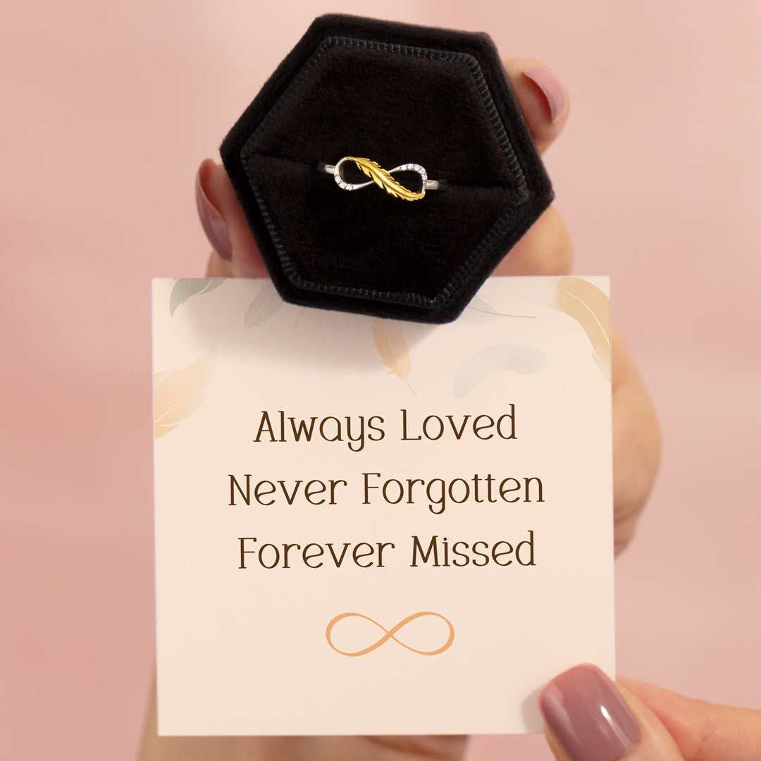 Feather Infinity Ring - Forever Missed