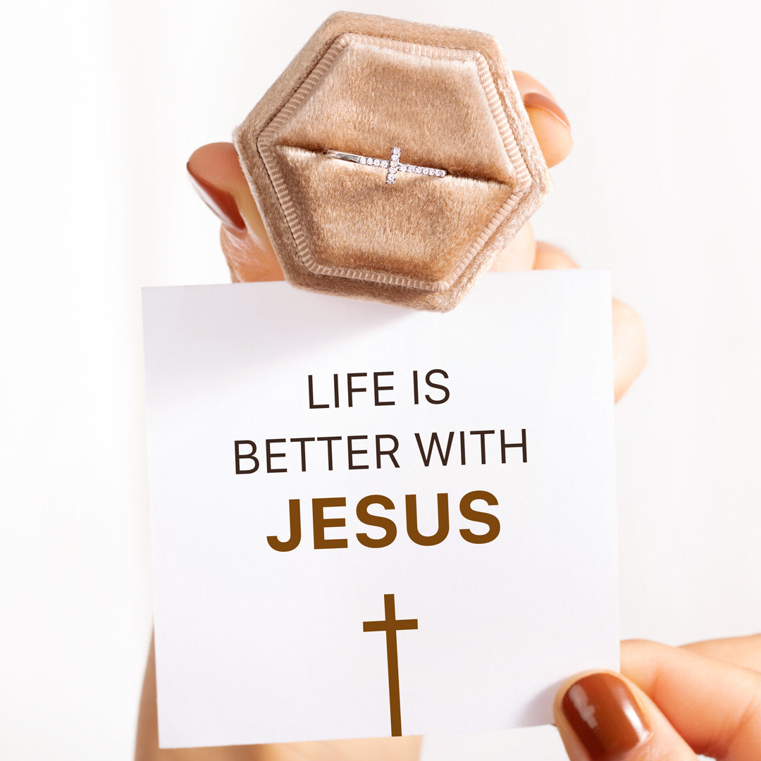 Christianity Cross Ring - Life Is Better With Jesus