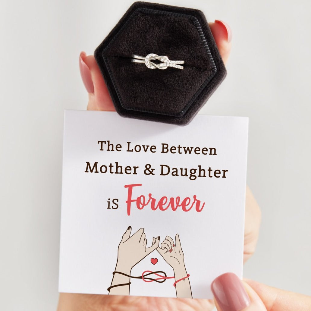 Love Knot Ring S925-Mother & Daughter