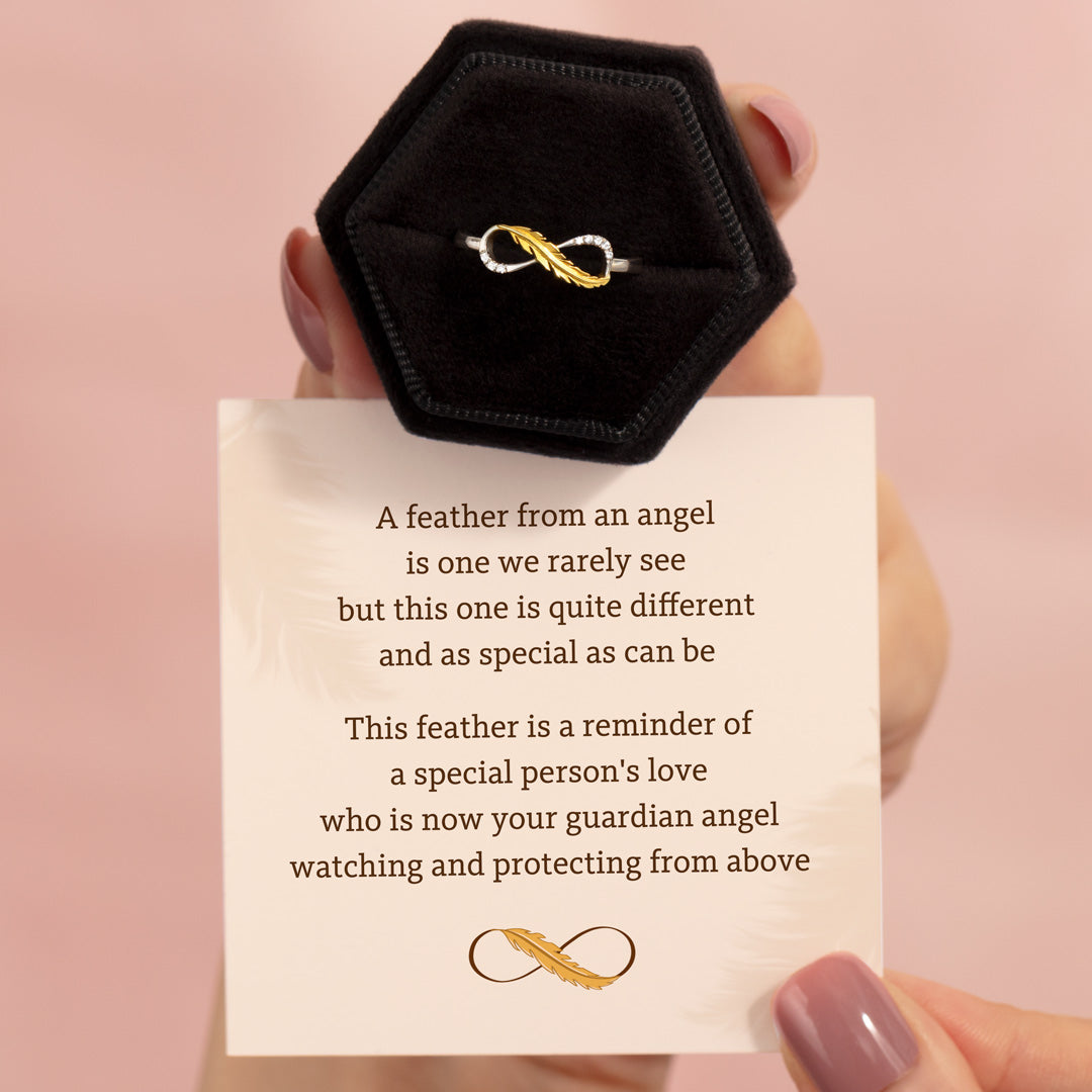 Feather Infinity Ring - Feather from An Angel
