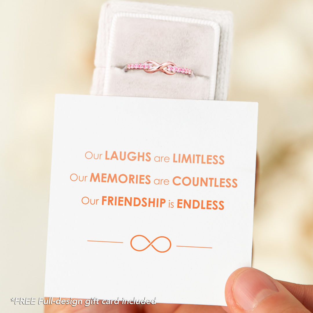 Infinity Band Ring - Our Friendship Is Endless