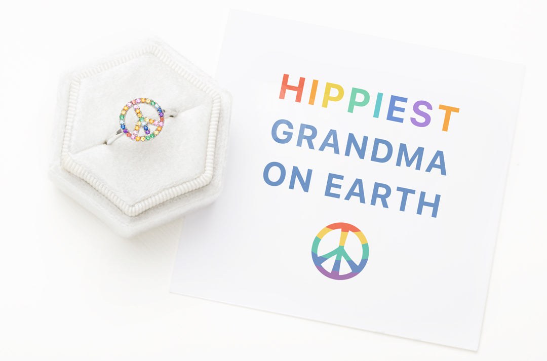 Peace Sign Ring-Hippiest Grandma On Earth