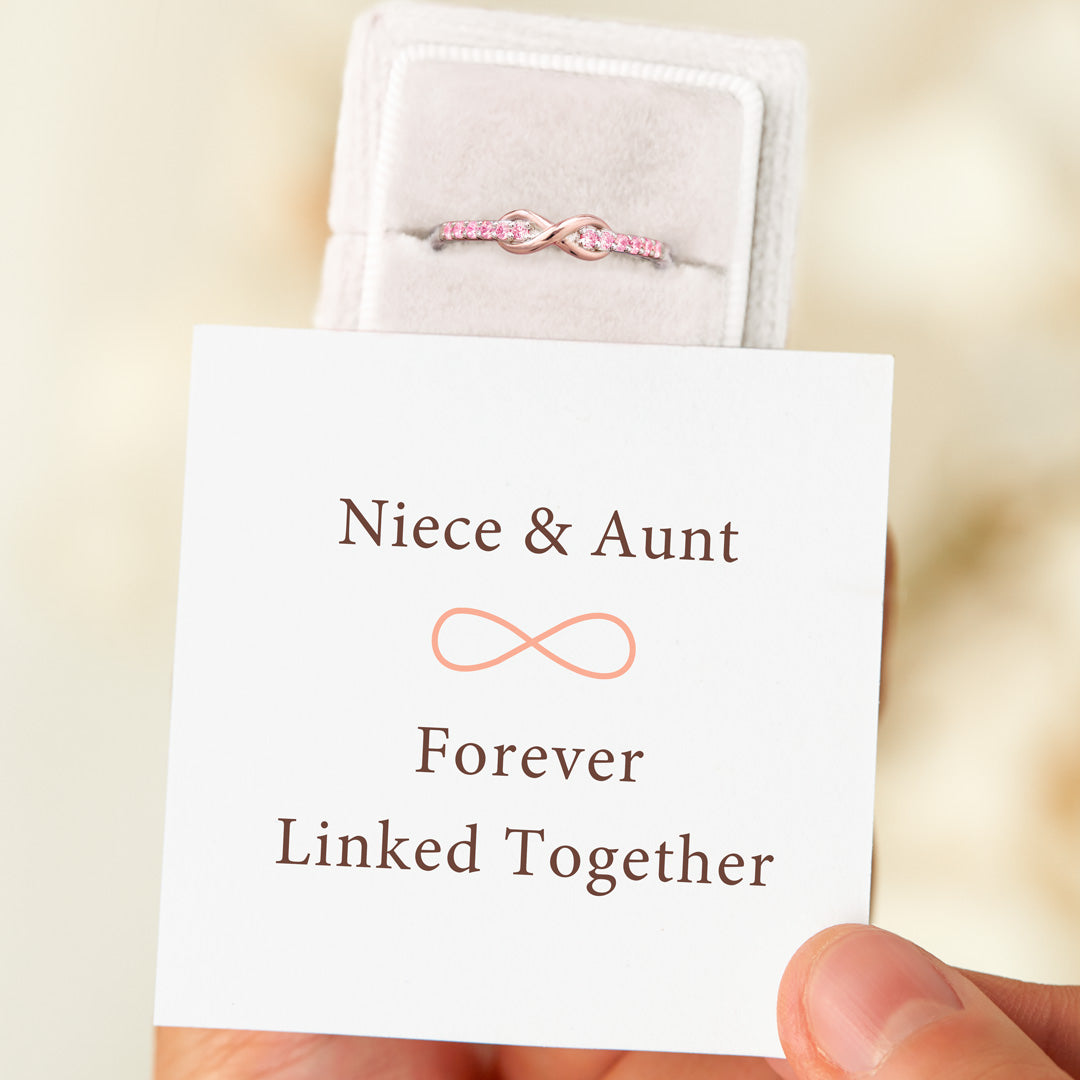 Niece & Aunt Forever Linked Together Ring