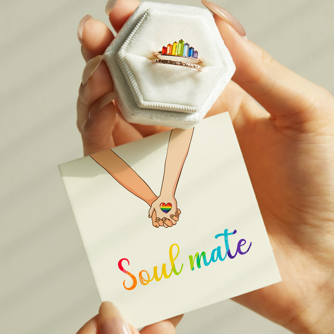 Rainbow Ring-Soul Mate Double Band