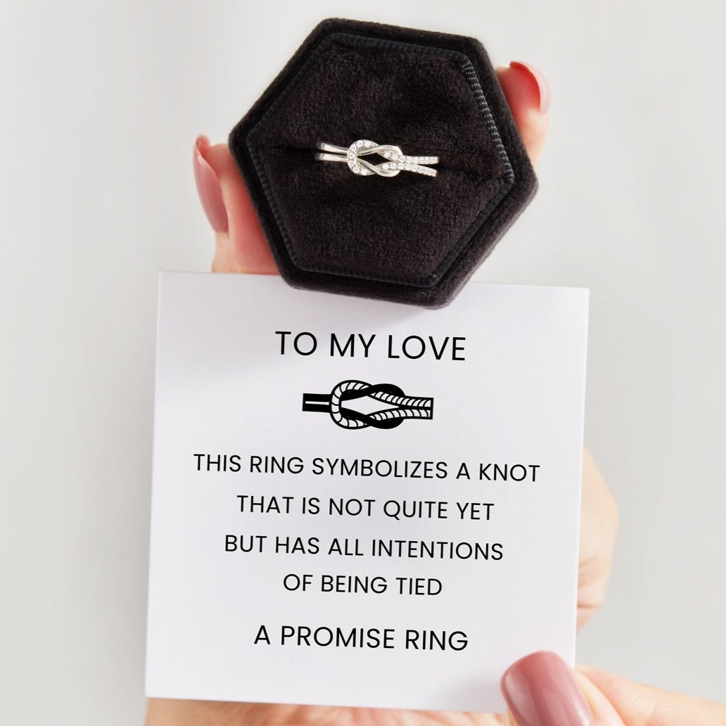 Infinity Love Knot Promise Ring