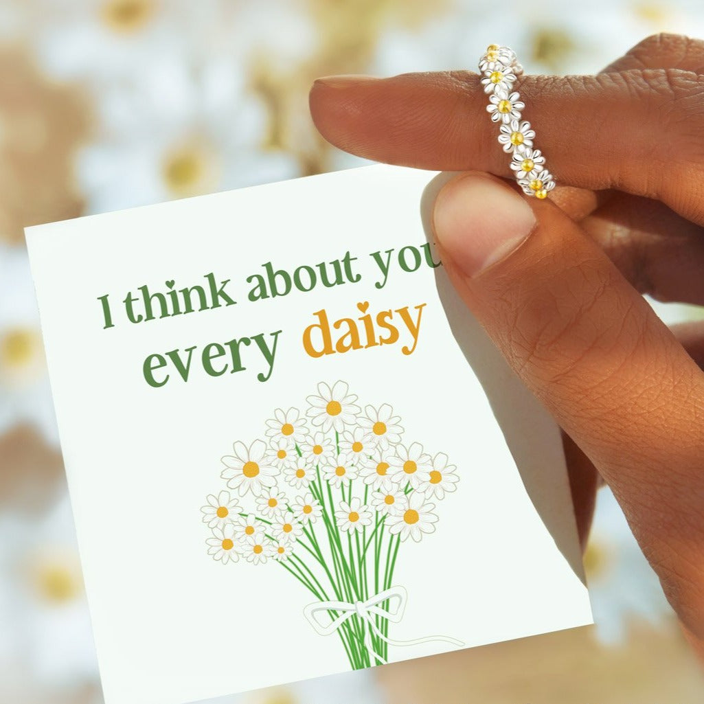 I Think About You Every Daisy Ring - 40% off code: Daisy40