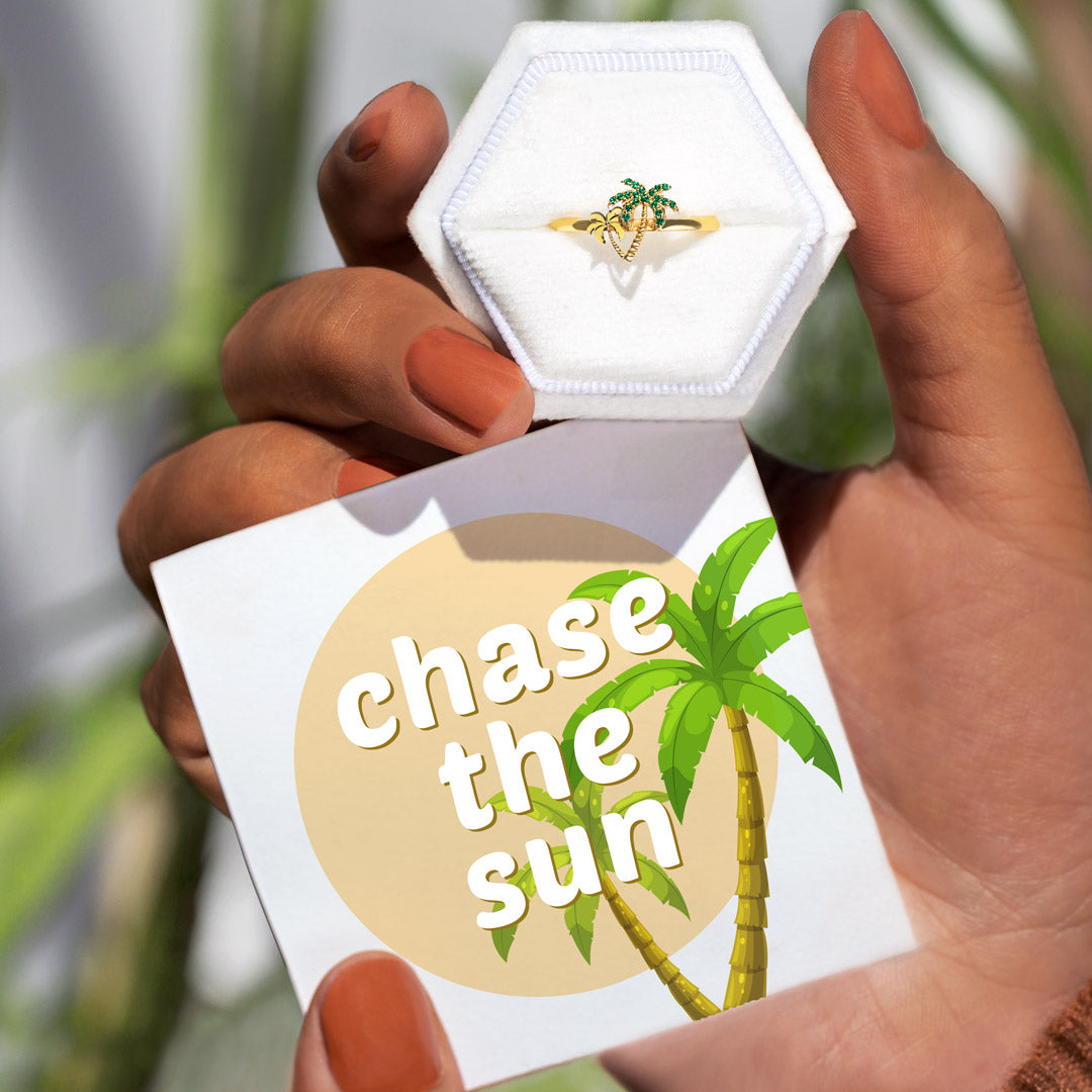 Palm Tree Ring - Chase The Sun