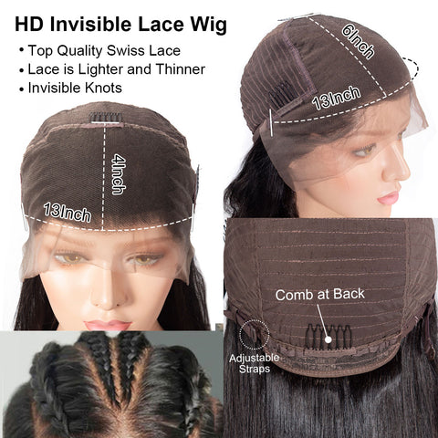13×4 HD Lace Front Wigs