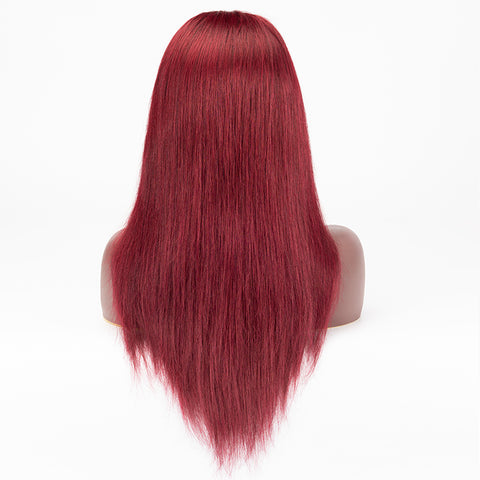 1b/99j Color Straight Hair Wig 13×6 Lace Front Wig