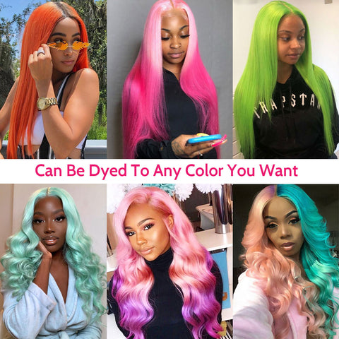 Transparent Lace Front Wigs 613 Blonde Body Wave Wigs