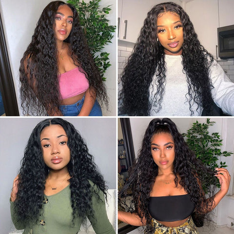 Water Wave 4×4 Lace Closure Wigs