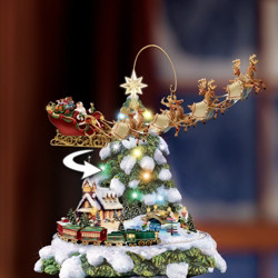 Only $19.99, Buy 2 Get 1 Free� Wall paintings-Wonderland Express-Christmas Tree Rotating ...