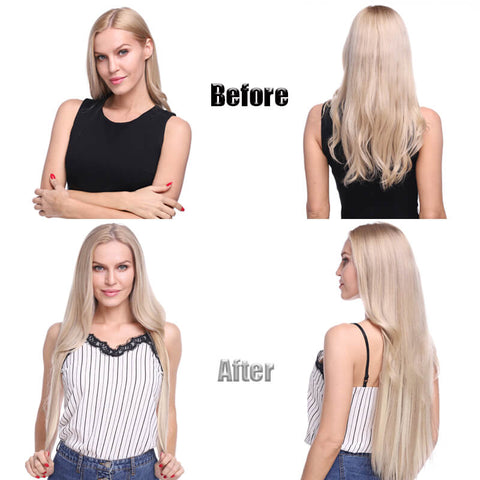 How to wear the clips in hair extensions-step four