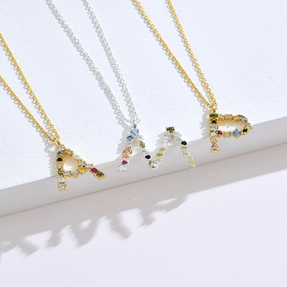 SKMEI SVN472 S925 Sterling Silver Initial Necklace