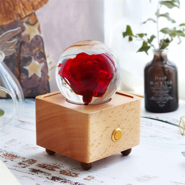 Bluetooth Speaker with preserved rose Unique Flower Gift www.lightue.com