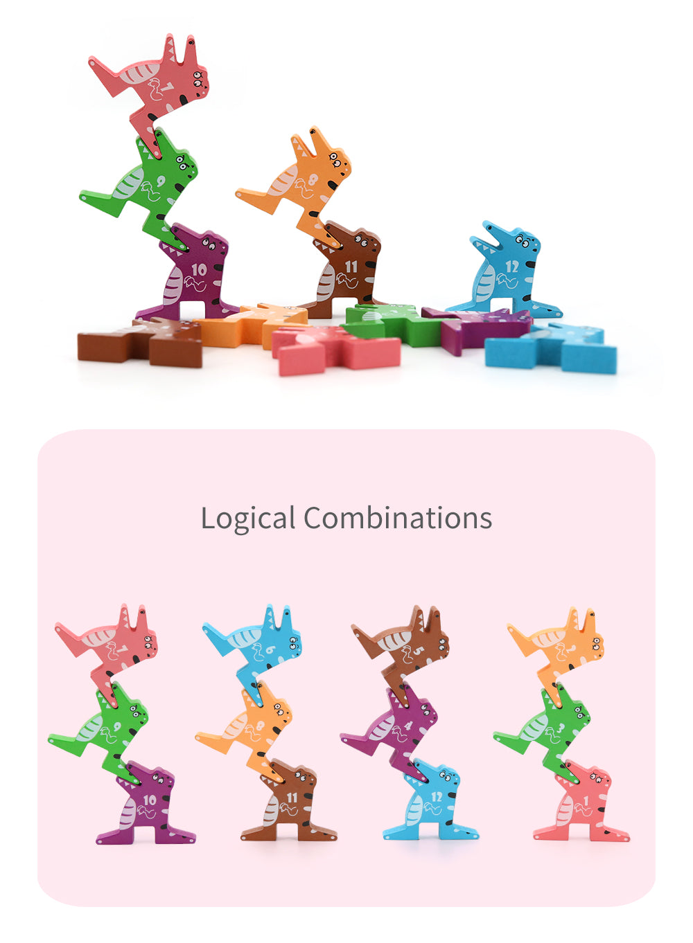 Crocodile building blocks
