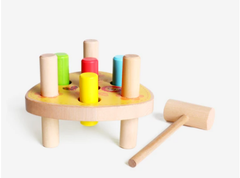 Montessori Wooden Whack-A-Mole Game Toy