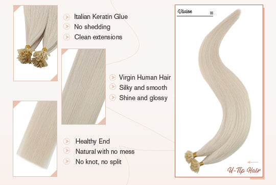 virgin u tip hair