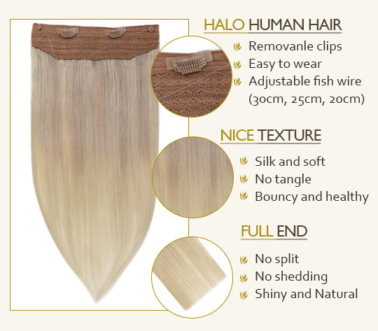 remy halo hair
