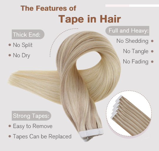 Vivien remy tape in hair 100% real Brazilian human hair silky straight can last for 3-6 months well blend with hair 50 grams and 20 pieces per pack