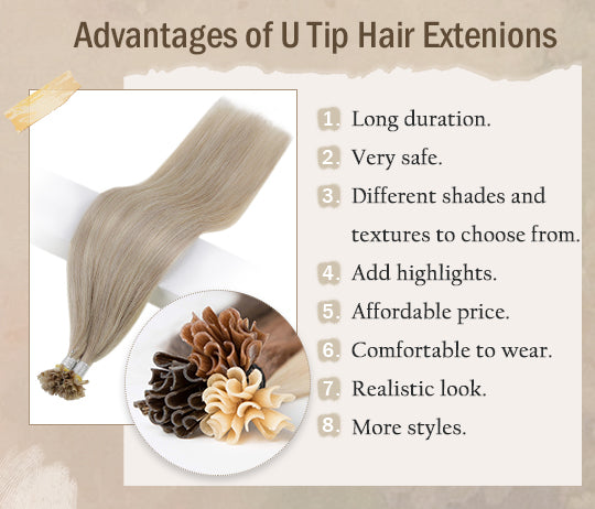 vivien remy u tip pre bonded human hair extensions can be last for a long time silky straight seamless invisible human hair