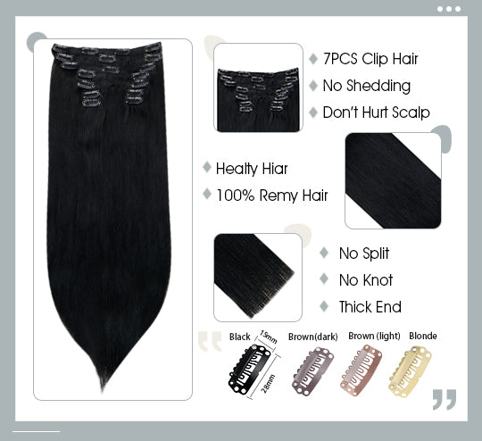 remy human clip in hair