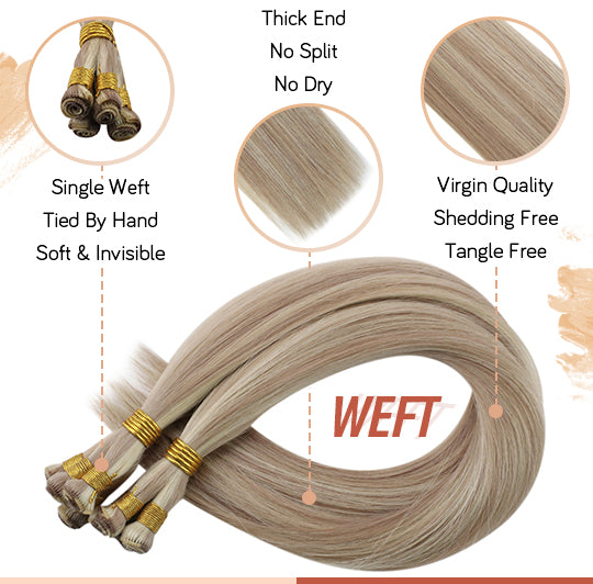 virgin handmade hair weft