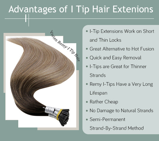 vivien balayage i tip pre bonded human hair extensions can be last for a long time silky straight human hair extensions