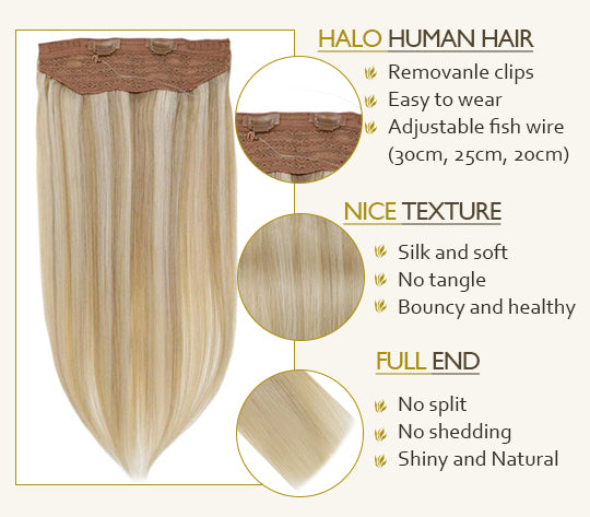 remy human hair halo extension