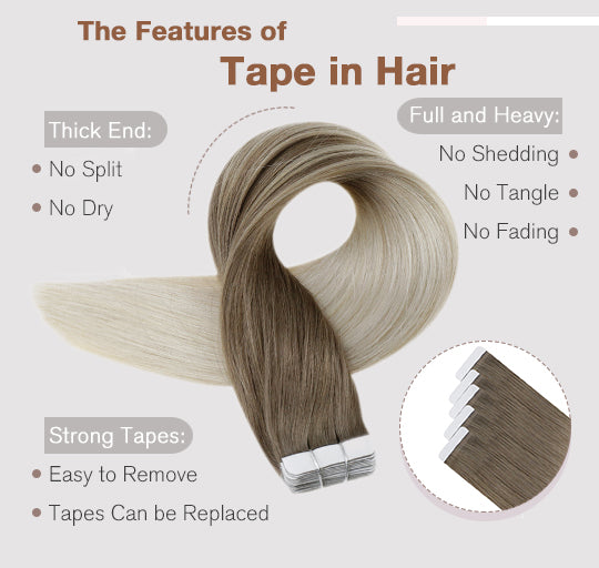 tape in hair extensions silky straight can be last for 3-6 months blend well with your hair