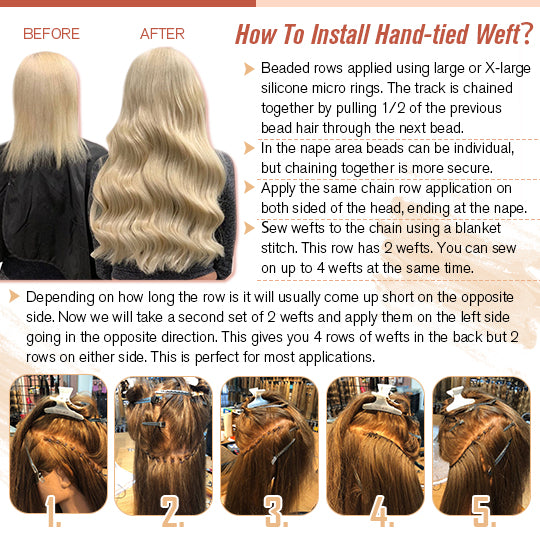 virgin handtied hair weft