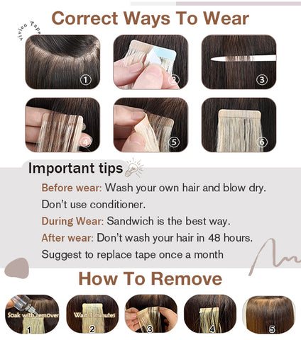 tape in hair no shedding and no split real human hair extensions