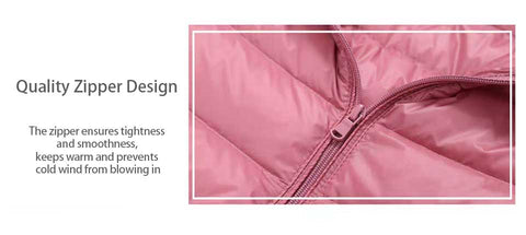 WearWell women light mid-length down jacket, latest design to prevent you from cold wind.
