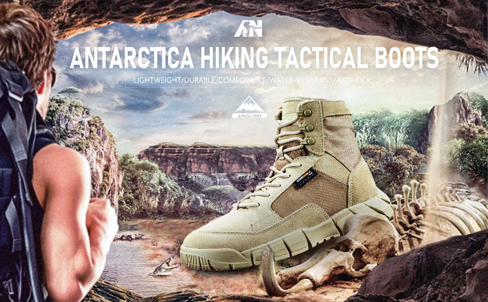 ANTARCTICA Mens Lightweight Military Tactical Boots for Hiking Work Boots