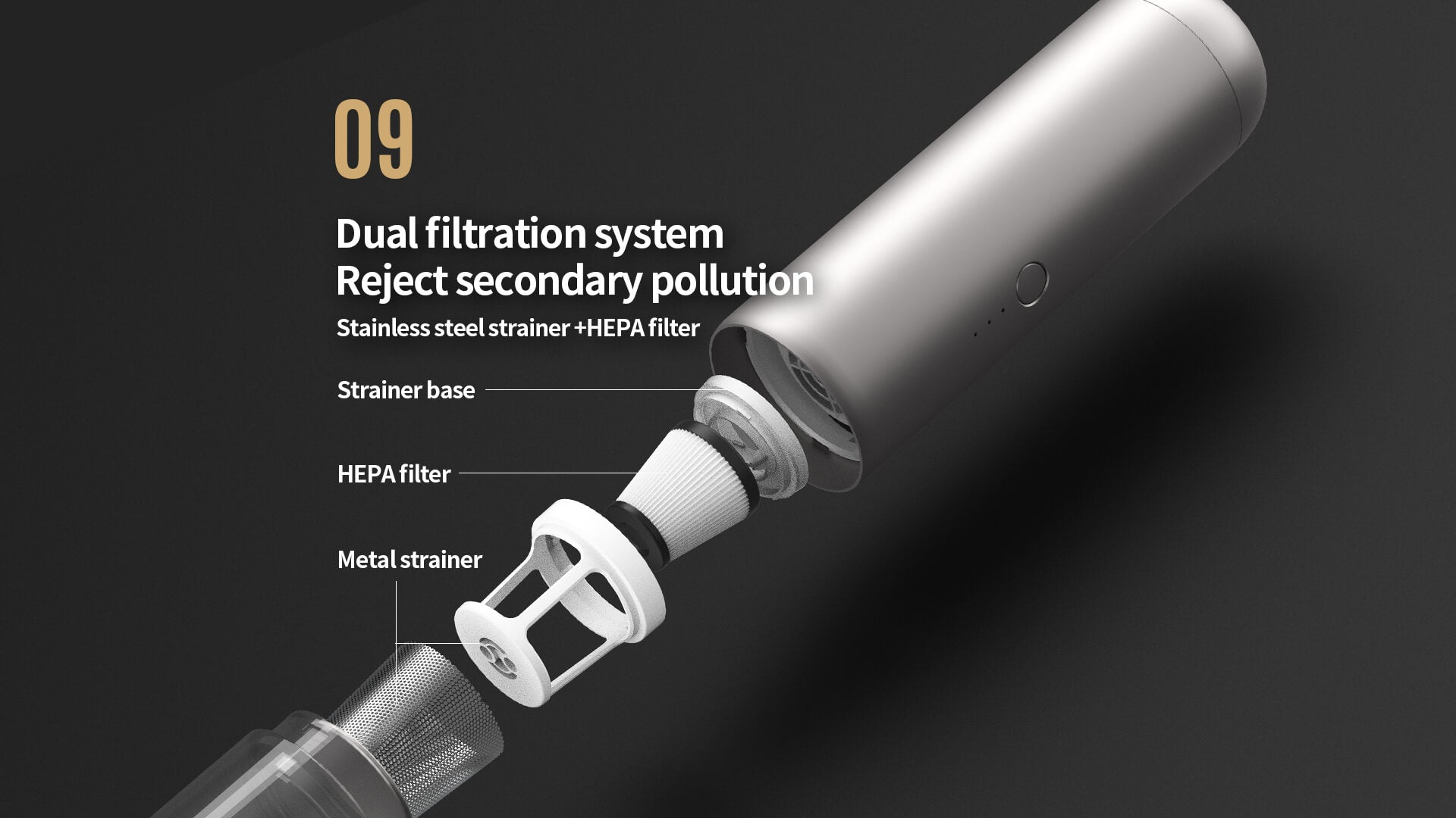 Beat Filter Design Filter Can Be Cleaned And Reused.  Not having to buy replacement filters.