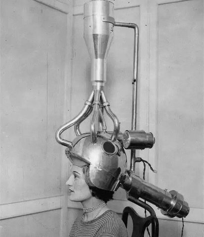 Early hair dryers before the Dyson hair dryer