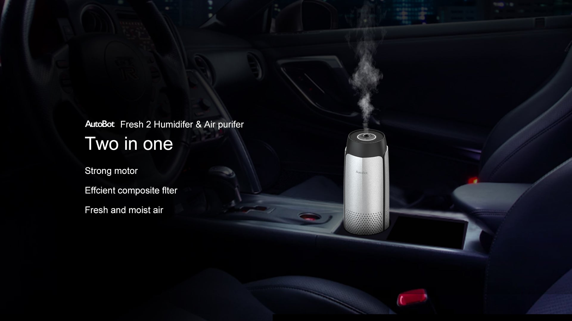 AutoBot Fresh 2 Humidifer & Air purifer Two in one Strong motor Effcient composite fleter Fresh and moist air