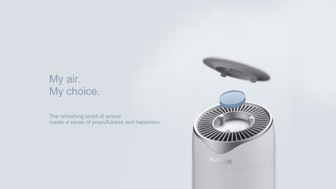 My air. My choice. The refreshing smell of amora create a sense of peacufulness and happiness.